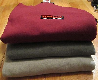 Wilson Sweatshirt 2XL Heavy weight 3 Pc 3 Color 50/50 Cotton/Polyester Bamboo