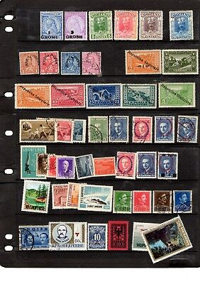 Albania - collection of MM/used including earlies - good cat value
