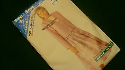 See & Sew by Butterick Easy skirt jacket sewing pattern #3082/783 Size A 6-14