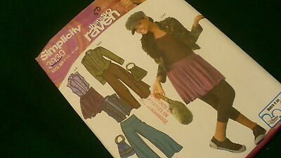 Simplicity That's So Raven Childs sewing pattern #3930 size BB 8.5 - 16.5