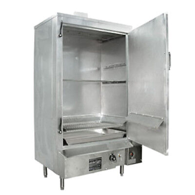 "24"" Galvanized MasterRange Smokehouse Nat Gas Right Hinged"