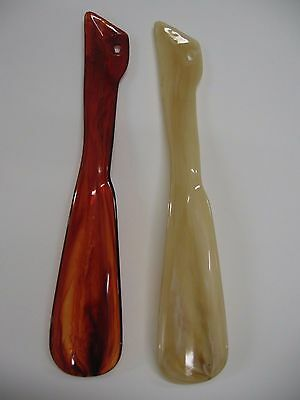 Tortoise Shell Plastic Shoe Horn 9½ inch  Travel Shoe Horn FREE SHIP