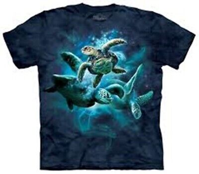 Sea Turtles Collage Hand Dyed Print T-Shirt The Mountain NEW UNWORN