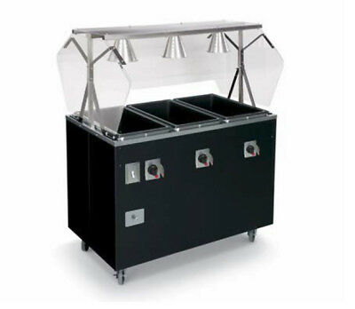 "Vollrath T39729 Affordable Portable™ 46"" (3) Well Hot Food Station Deluxe"