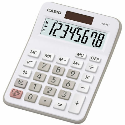 Casio MX8B Ideal Student Home Business Office Desk Top Calculator *MX-8B (K13