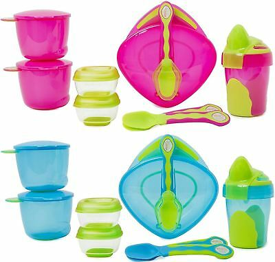 Vital Baby 8 PIECE START WEANING KIT Baby/Toddler Feeding Cup/Plate/Spoon BN