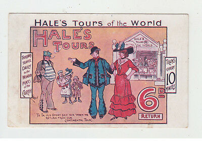 Hales Tours of The world - Travel agent early postcard - Railway interest