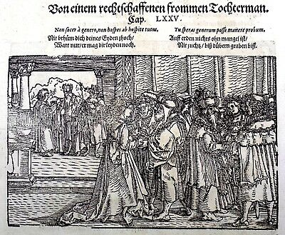 1532 Master of Petrach Hans Weiditz 2 master woodcuts: Chastity Addiction Piety