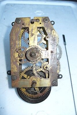Clock Parts British Clock Co  Birmingham  Striking  Movement  Spring Ok