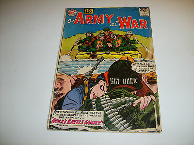 DC Our Army At War #115  Ist Mlle Marie/Sgt Rock Team Up   1962   GD