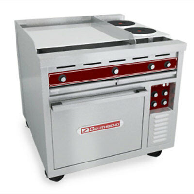 "Southbend SE36A-TTT 36"" Electric Convection Oven Range w/ 36"" Griddle Commercial"