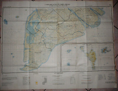 RARE - US SPECIAL MAP - CTZ IV, BATTLE OPS - Military Tactical Zone, Vietnam War