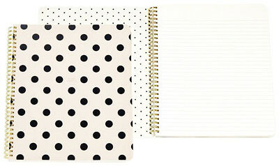 kate spade Large Spiral Notebook Black Deco Dots (So Well Composed) 160 page New