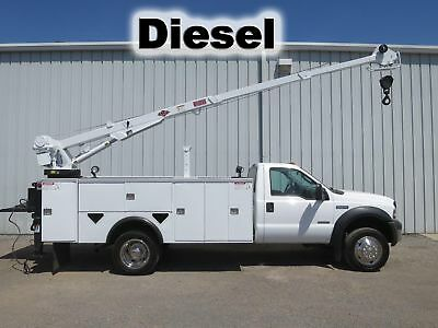 F550 Diesel Utility Tool Box Body Bed Service Imt Boom Crane Truck Lift Gate