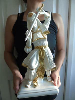 Agostinelli Bassano Porcellane d'Art White & Gold Figurine of a Samurai 15.5""