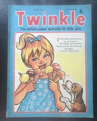 Twinkle  Comic No. 338. 13 July 1974. Vfn. Puzzles Not Done.