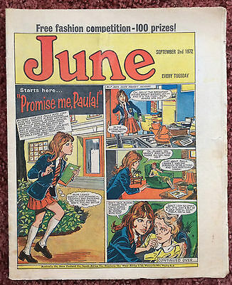 June Comic. 2 September 1972. Fn Condition. Girls Comic In Great Condition.