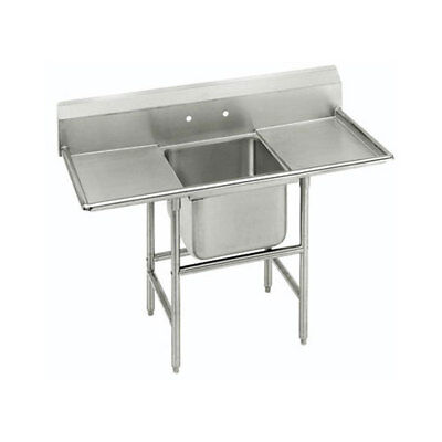 """Advance Tabco 1 Compartment Sink S/s 18""""x18""""x14"""" Bowl Two 18"""" Drainboards"""