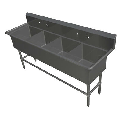 """John Boos 4PB30244 4 Compartment 30"""" x 24"""" Stainless Steel Pro-Bowl Sink"""