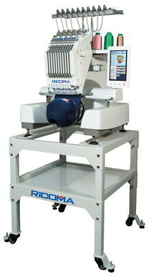RiCOMA EM-1010 10-Needle Embroidery Machine with Stand & Software