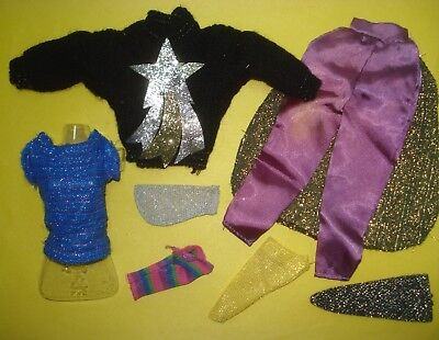 Vtg 80s JEM AND THE HOLOGRAMS Doll Clothes TOTSY LOT Sweater Socks etc
