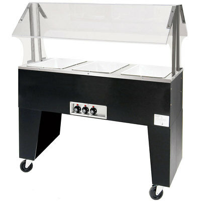 "Advance Tabco 47"" Electric 3 Hot Food Wells Portable Hot Food Table 120v"