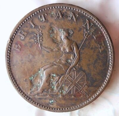 1806 GREAT BRITAIN 1/2 PENNY - AU DETAILS - Great Vintage Coin - LOT #622