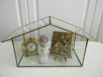 Fabulous Vintage All Glass Display Case~House Shaped~Perfect for Collectibles