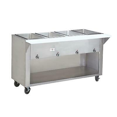 "Advance Tabco 62"" Electric 4 Wells Hot Food Table w/ S/s Cabinet Base 240v"