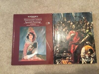 2 SOTHEBY'S LONDON: 19TH Century Spanish Paintings, & Spanish Art - Pictures