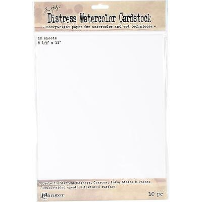 Tim Holtz Distress Watercolour Cardstock - 8.5 x 11 inch - Pack of 10 sheets