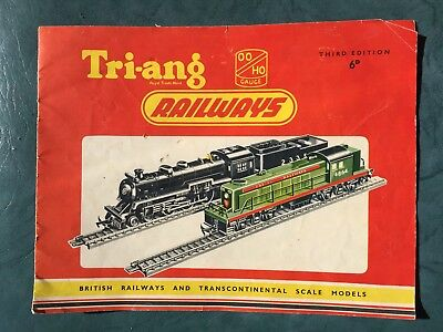 1957 TRI-ANG RAILWAYS Catalogue - OO & HO Gauge - 15 Pages