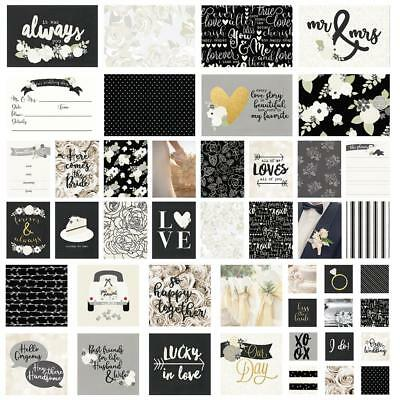 Simple Stories Sn@p Pack - ALWAYS & FOREVER 48 pieces - pocket page scrapbooking