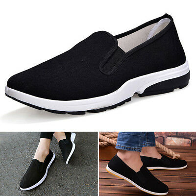 Men Chinese Kung Fu Shoes Martial Art Ninja Cotton Sole Tai chi Slippers Slip On