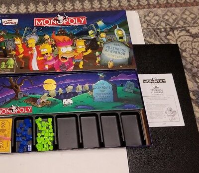 THE SIMPSON'S Monopoly TREE HOUSE OF HORROR Complete GAME Excellent