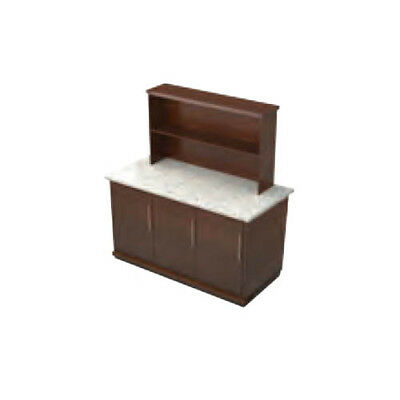 """Lakeside 79856 30""""Dx96""""Wx66""""H Portable Wooden Back Bar"""
