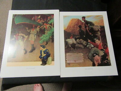 Scouting Through the Eyes of Norman Rockwell Prints Lot of 8,     eb01