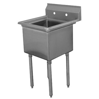 """Advance Tabco FC-1-1620-X 1 Compartment S/s Sink w/ 16"""" x 20"""" x 14"""" Size Bowl"""