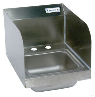 "BK Resources 9""x9""x4-3/8"" Wall Mount Space Saver Hand Sink w/ Splashguard"