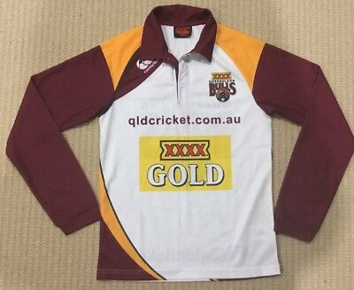 CANTERBURY / QLD BULLS - Mens Long Sleeved Cricket Shirt - S