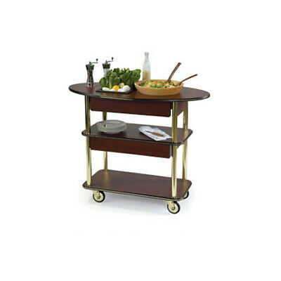 """Lakeside 37307 23""""Dx44""""Wx35""""H Rounded Oval Salad Cart"""