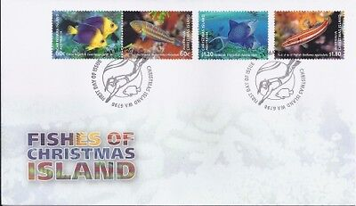 2013 Christmas Island - Fishes First Day Cover FDI