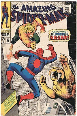 Amazing Spider-Man # 57 Beautiful Cover Art Silver Age Rare Comic Book..........