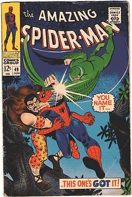 Amazing Spider-Man # 49 Beautiful Cover Art Silver Age Rare Comic Book Vulture..