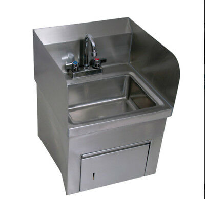 "BK Resources BKHS-D-1410-SKTS-P-G 13-3/4""Wx10""D Wall Mount Hand Sink"