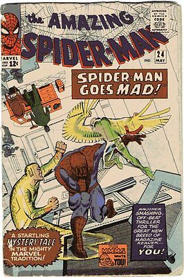 Amazing Spider-Man # 24 Beautiful Cover Art Silver Age Rare Comic Book Vulture..