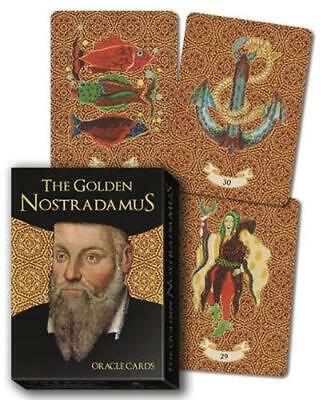 The Golden Nostradamus Oracle Cards by Lo Scarabeo Free Shipping!
