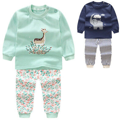2pcs Baby Boys Kids Toddlers Long Sleeve T-shirt Tops+Pants Clothes Outfits Sets