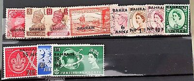 Bahrain 20th Century Used and Mint Stamps Collection in a Card