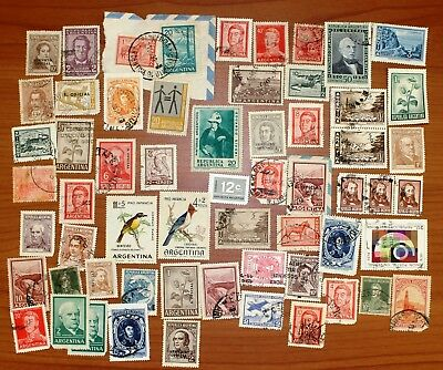 Lot of Argentina used stamps